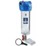 """Filtrační pouzdro 10"""" trojdílné 1/2"""" + klíč, držák a vypouštěcí ventil"""