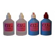 Sada pro stanovení chloru v pitných vodách (0,1-1,2 mg/l)