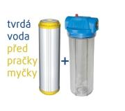 Set změkčovací filtrační vložky a čirého pouzdra